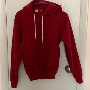 American apparel red hoodie